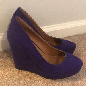 Purple Wedge High Heels from Michael Antonio